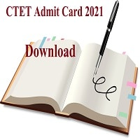 CTET Admit Card 2021 Download