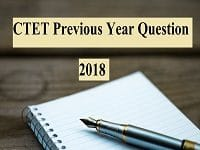 CTET Previous Year Question December 2018 CDP