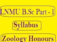 LNMU B.Sc Part 1 Syllabus Zoology (Honours)