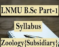LNMU B.Sc Part 1 Syllabus Zoology {Subsidiary}