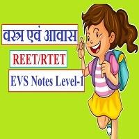 वस्त्र एवं आवास REET EVS Notes